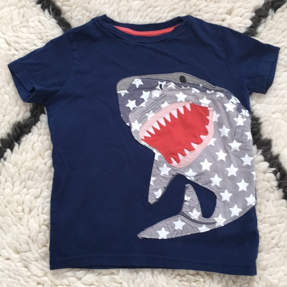Mini Boden boy's baby cotton applique top t-shirt  new shirt tee applique logo T-Shirts & Tops Boys' Clothing (0-24 Months)